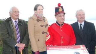 Members of the team responsible for an interpretation board in Guernsey