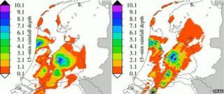 Rain data taken with mobile masts and radar/rain gauges
