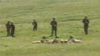 Troops training on Dartmoor