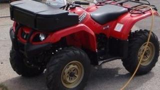 one of the stolen quad bikes