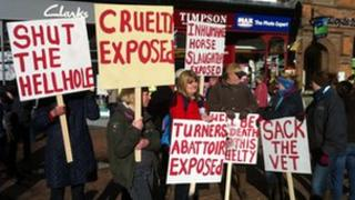Protest in Nantwich