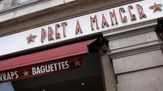 Pret A Manger shop front