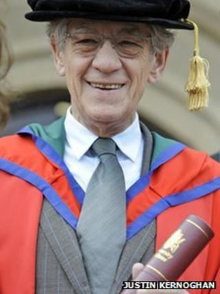 Sir Ian McKellen at University of Ulster, Magee campus