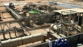 File image of installation near Niger uranium mine