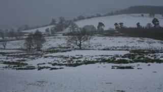 Snow in Bala, Gwynedd