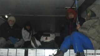 Seven people were found in the refrigerated lorry bound for Dover