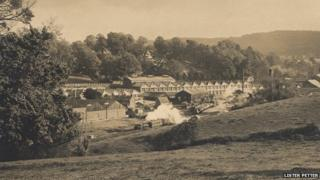 The Lister Petter site, Dursley, in the 1920s