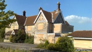 The derelict Butleigh Hospital site