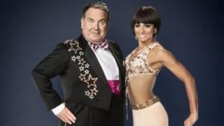 Russell Grant with former Strictly partner Flavia Cacace