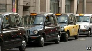 Taxis at Victoria Station