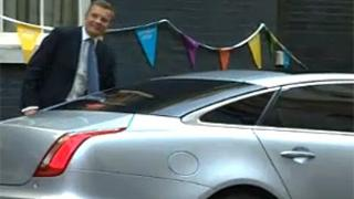 David Jones pictured in his ministerial car last year