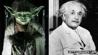 Yoda and Albert Einstein