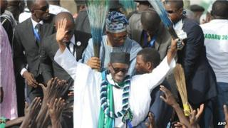 Nigerian opposition politician Nuhu Ribadu (28 February 2011)