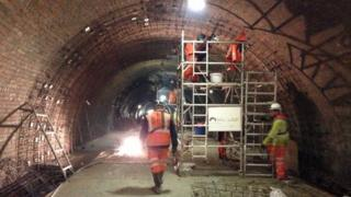 Working in the tunnel