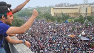 Demonstration in central Dhaka - 8 February