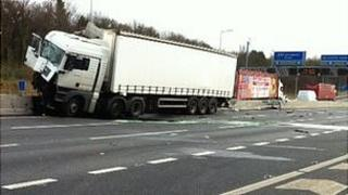 Lorry on M1