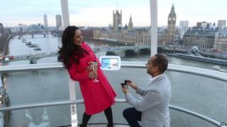 Jagan Rao proposes to Natasha Palmer