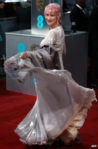 Dame Helen Mirren at the Baftas