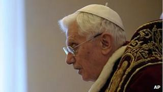 Pope Benedict on 11 Feb 2013