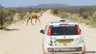 Fiat on Africa run