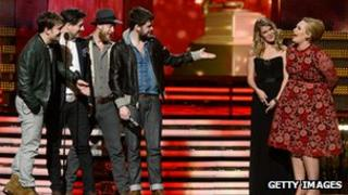 Grammy Awards Adele and Mumford and Sons