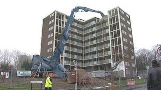 Demolition work in Little London
