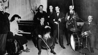The first day in the studio in Castle Street, Cardiff on 13 February, 1923