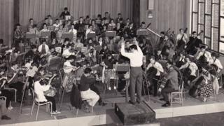 Béla de Csilléry conducting the newly-founded Kent County Youth Orchestra at Tunbridge Wells in 1963