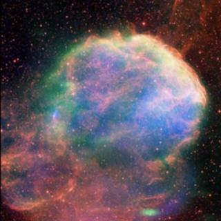 A view of the IC 433 supernova remnant seen in X-rays