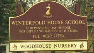 Winterfold House School sign