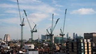 Cranes in London