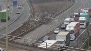 Crash on the M25
