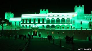 Prince's Palace in Monaco gone green
