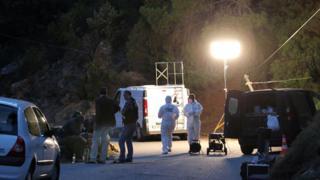 Forensic teams gathers evidence after assassination (Sept 2012)