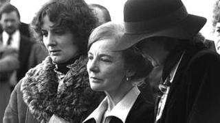 The funeral of Thomas Niedermayer in 1980