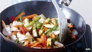 Cooking a stir fry
