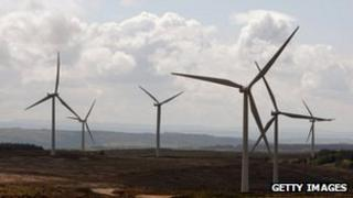File image of wind farm in Scotland