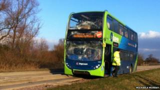 Cambridge guided busway crash