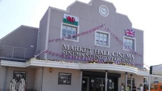 Brynmawr cinema in the town's market hall