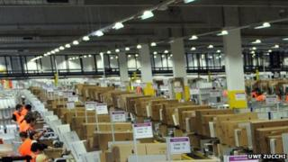 Amazon warehouse, Bad Hersfeld, Hesse (file photo Dec 2010)