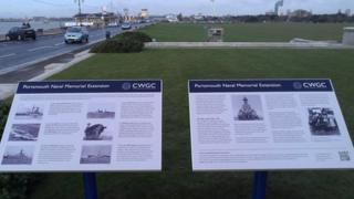 Portsmouth Naval Memorial information panel