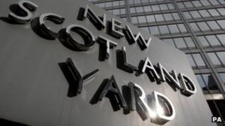 News Scotland Yard sign