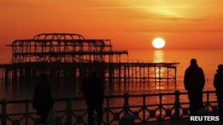 Brighton seafront February 16 2013