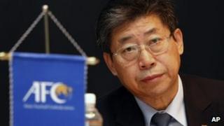 Acting head of Asian Football Confederation Zhang Jilong in Kuala Lumpur (20 Feb 2013)