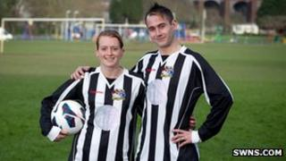 Gemma Sanders and Barrie Prowse