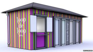 Artist's impression of how the art cafe would look