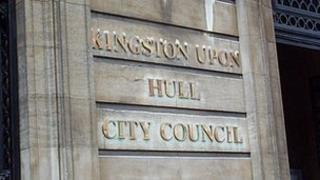Hull City Council sign
