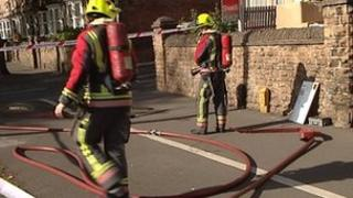 Firefighters in Nottingham