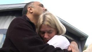 Asa and Gwen Pryke hugging