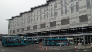 Arriva buses at Derby bus station